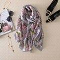 Moda bandana bufanda de seda de la marca de lujo Elegante impreso ponchos bufanda mujeres pashmina hijab foulard bufandas del diseñador de la Alta Calidad