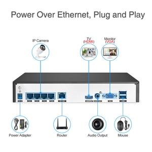 Image 4 - Techege H.265 CCTV System POE NVR Kit 4CH 5MP Audio Record Im Freien Wasserdichte POE IP Kamera Home Security Kamera System