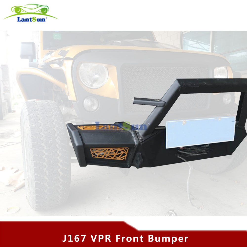 Set J167 black steel front bumper for jeep wrangler jk 07-16 for jeep wrangler jk anti rust hard steel front