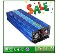 3000 Вт Чистая синусоида солнечный инвертор 12 В/24 В/48 В постоянного тока до 110 В/220 В AC пиковая мощность 6000 Вт