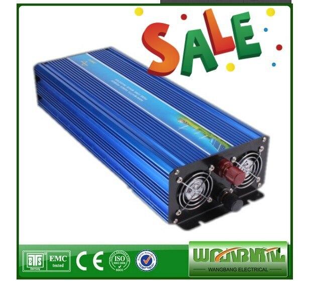 цена на 3000W Pure sine wave Solar inverter 12V/24V/48V DC to 110V/ 220V AC Peak power 6000W