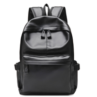 2016 Designer Men Backpacks Pu Leather Rucksack School Bag For Teenagers Black Women Backpack Travel Bolsas