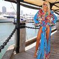 new summer beach long dress women robe longue femme pleated Chiffon maxi dress women flora  dresses swimwear