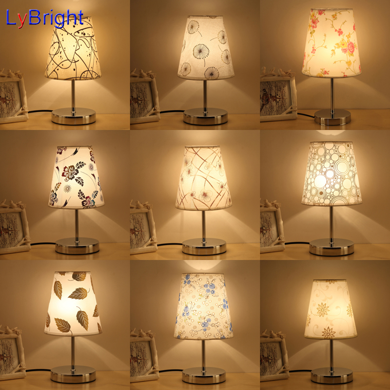 modern table lamp bedside bedroom table light ac 90260v for living - Bedroom Table Lamps