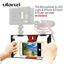 Ulanzi Smartphone Video Rig Vlogging Record Handle Rig Case Filmmaking Stabilizer Grip Phone Mount for iPhone
