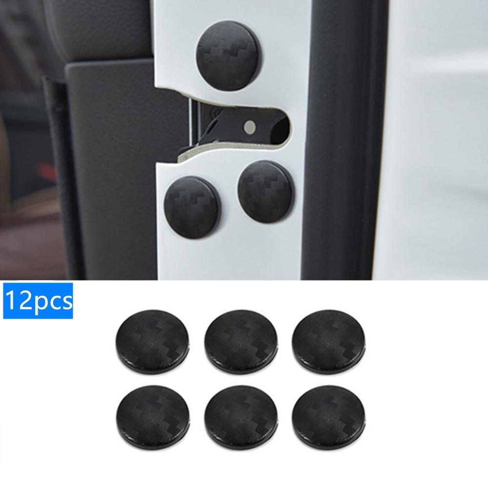 12pcs Car Door Lock Screw Protector Cover For Hyundai Tucson Elantra Creta IX25 IX35 Sonata Solaris Santa Fe I30 Accent Creta
