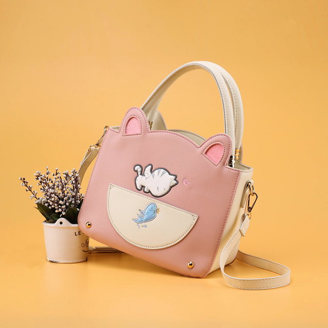 Every Day New Fashion Handbags Special Offer Color Adorable Cat Ears Small Package All