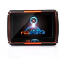2016 Новый 256 М + 8 ГБ + FM! FODSPORTS Марка 4.3 Дюймов Водонепроницаемый IPX7 Bluetooth GPS Навигатор для Мотоцикла Установлен Карты