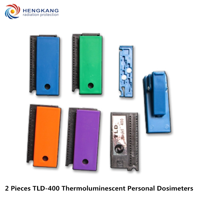 Free shipping 2 pieces TLD 400 personal thermoluminescent cumulative dosimeters nuclear radiation detection dose card