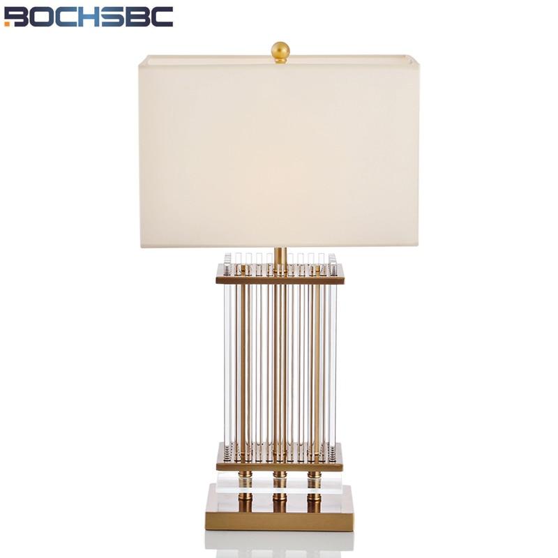 Bochsbc Metalen Frame Glas Tafellamp Creatieve Glas Stof Lampada Led E27 Voor Hotel Slaapkamer Woonkamer Studeerkamer Desk Lamp Brede VariëTeiten