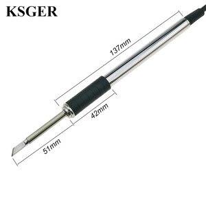 Image 5 - Паяльная станция KSGER T12 STM32 V2.1S OLED, наборы «сделай сам», наконечники паяльника, сварочные инструменты, контроллеры FX9501, алюминиевая ручка