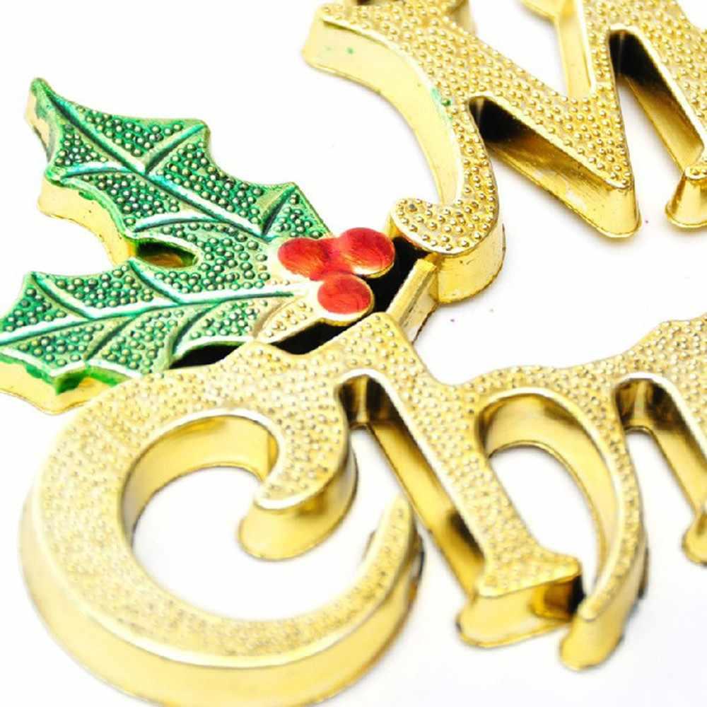 Vintage คริสต์มาส 14 ซม. Merry Christmas Letter จี้เครื่องประดับ DIY เครื่องประดับคริสต์มาสปาร์ตี้คริสต์มาส Xmas แขวนเครื่องประดับ