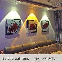الأزياء الصمام أضواء السقف أدى 3 واط قاعة الممشى شرفة الكريستال ديكور المنزل مصباح تلفزيون أريكة خلفية الجدار ktv زخرفة ضوء