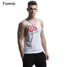 Vertvie 2017 New Arrival Men's Gym Fitness Sports Vests Running Training Outwork Swimming Tank Top Breathable Sportswear Shirts