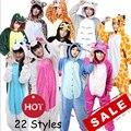 Conjuntos de Pijama de flanela Criança Adulto Onesie Ponto Panda Dos Desenhos Animados Pijamas Animal Pijamas Mulheres One Piece Cosplay Pijama Unicornio