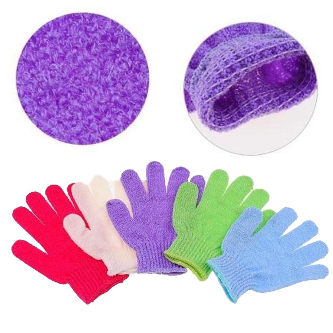 NEW 1PC Shower Bath Gloves Exfoliating Wash Skin Spa Massage Body Scrubber Cleaner Bath Glove