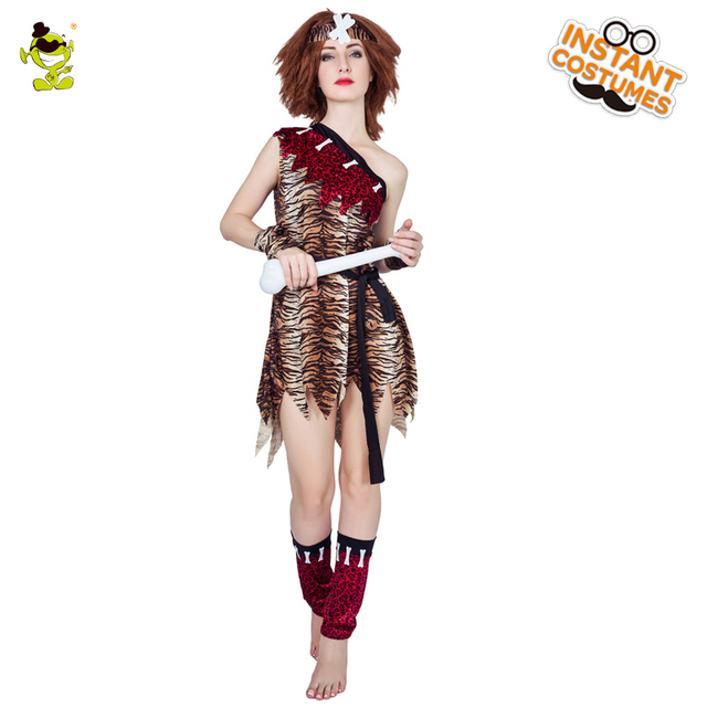 2018 female native american costume womans cosplay carnival halloween costume party sexy caveman cosplay costumes