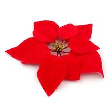 Рождественские украшения Искусственные цветы с пластиковыми красными цветочными орнаментами 20*20 см