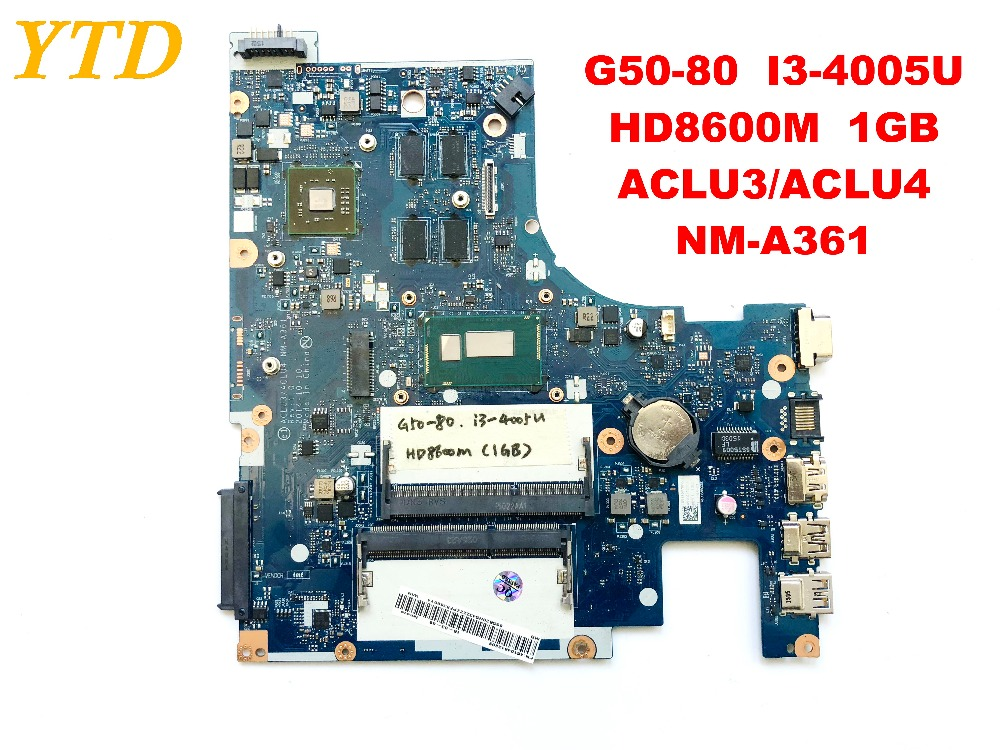 Original for Lenovo G50-80 laptop motherboard G50-80 I3-4005U HD8600M 1GB <font><b>ACLU3</b></font> <font><b>ACLU4</b></font> <font><b>NM</b></font>-<font><b>A361</b></font> tested good free shipping image
