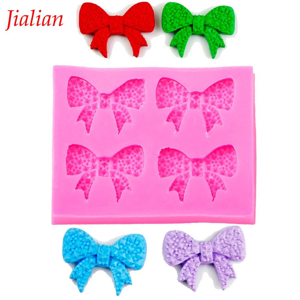 jialian cake fondant silicone mold Bow tie chocolate fudge cake decoration Soap mold baking utensils FT-0350