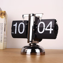 Retro Digital Auto Flip Page Single Stand Desk Table Clock Home Decoration фотошторы фернам bellino home page 9