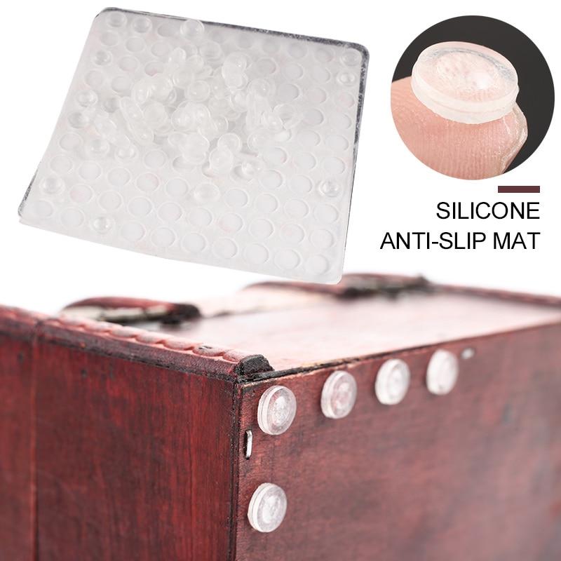 Nordic Silicone Feet Pads Rubber Bumper Damper 100pcs EVA Silicone 8.5*2.5mm Cupboard Anti Slip Stop Cushion Furniture Legs