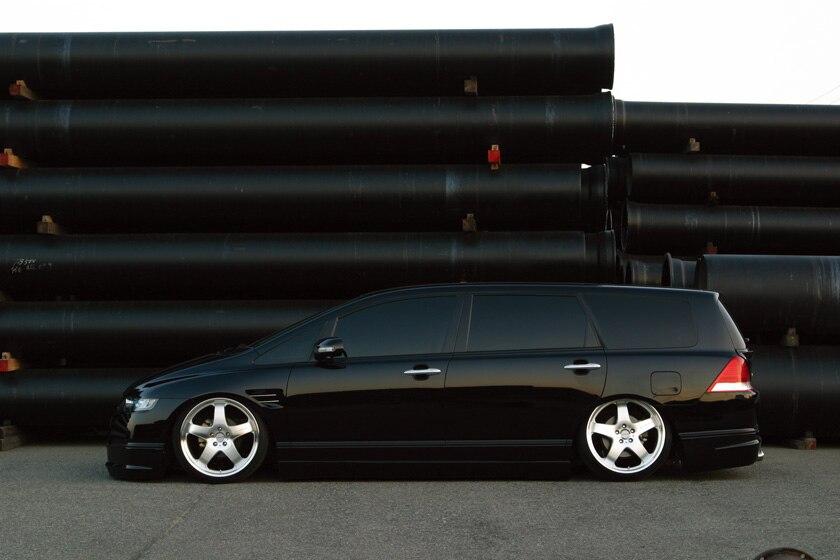 Jupe latérale FRP pour HONDA Odyssey RB1/2 (2003-2005) jupe latérale en Fiber de verre WD (pré-facilifed) réglage du Kit de carrosserie pour Odyssey Racing