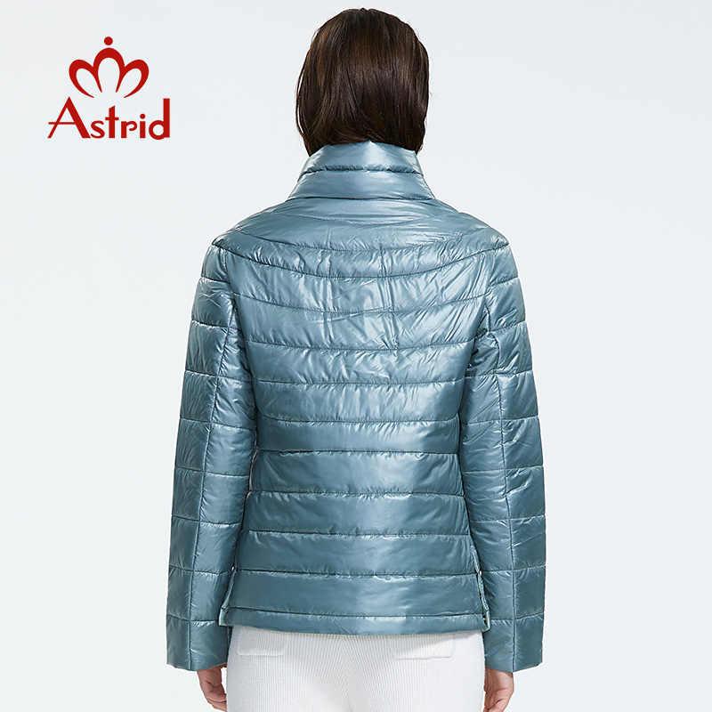Astrid 2019 ฤดูใบไม้ร่วงมาถึงใหม่ TOP Blue PLUS ขนาดคอสั้นสไตล์ Park Snap ปุ่มฤดูใบไม้ร่วงเสื้อผู้หญิง AM-1999