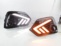 RQXR led drl daytime running light for Honda civic 10th with Dynamic moving yellow turn signal