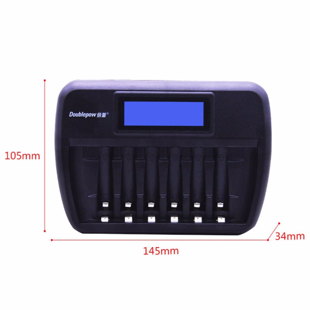 Image 5 - Doublepow Multifunctional Universal 6 Slots LCD AA AAA Rechargebale Battery Charger Automatic Intelligent Rapid Charger-in Chargers from Consumer Electronics