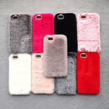 hot deal buy case on hayon 7 fluffy case for iphone xs max case rabbit  fur cover case for iphone 6s 7 8 plus x xs xr xs max fundas coque