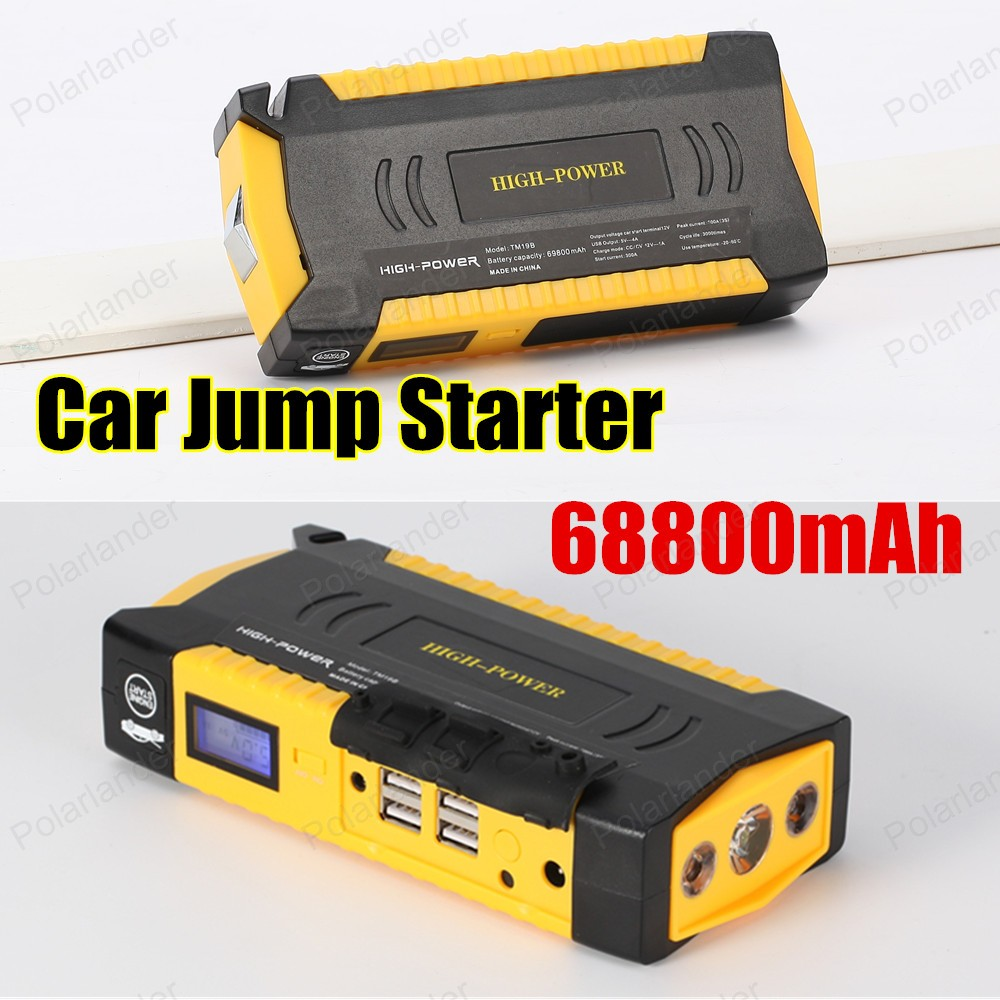 Original Portable 69800mAh Car Jump Starter and Charger for Electronics Mobile Device Laptop Auto Engine Emergency