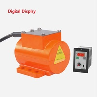 12V DC Brushless Micro Vibration Motor 15W 3800rpm Digital Display Speed Controller Vibrator for Construction Food Industry