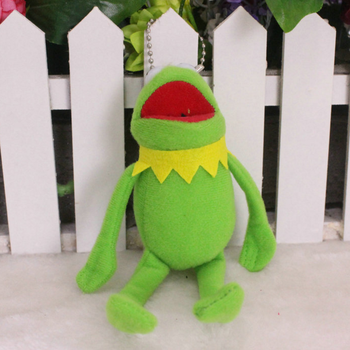 1 pcs new Sesame Street The Muppets Kermit the Frog Cute Plush Toys Cartoon Stuffed Dolls Keychain Pendant Kids Gift