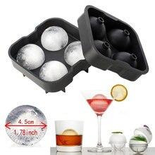 SOLEDI коктейльный ледяной шар для виски аппарат-изготовитель кубиков льда лоток 4 большие силиконовые формы для льда кухонный лоток случайный цвет бар аксессуары