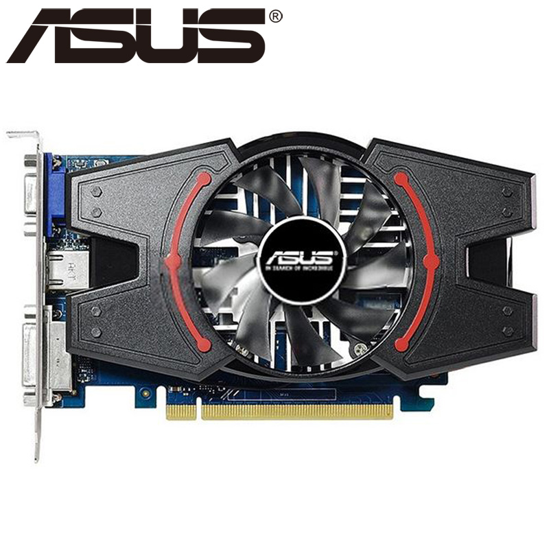 ASUS Video Card Original GT730 2GB SDDR3 Graphics Cards for nVIDIA Geforce GPU games Dvi VGA Used Cards On Sale computador cooling fan replacement for msi twin frozr ii r7770 hd 7770 n460 n560 gtx graphics video card fans pld08010s12hh