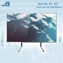 """Evrensel TV masaüstü monitör stant TV masa montaj masası Stand braketi için en 32 65 """"LCD düz ekran TV VESA 600*800mm"""