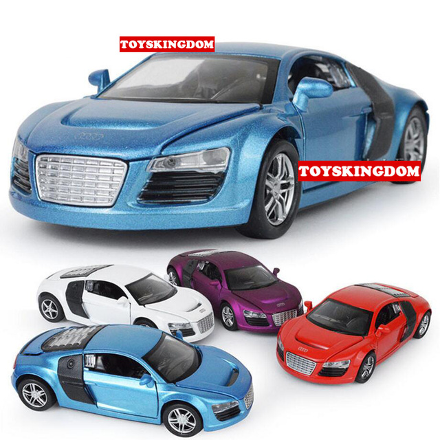 Hot 1:32 Scale Wheels Diecast Sports Cars Audi R8 Open Door Metal Model With