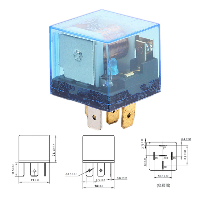 HY5017 12V C G NF Automotive Relay Electromagnetic Relay DC 12V 5Pin ...