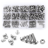 Mayitr 440pcs Stainless Steel Hex Socket Screws Nuts Button Head M3 M4 M5 Bolts Assortment Kit