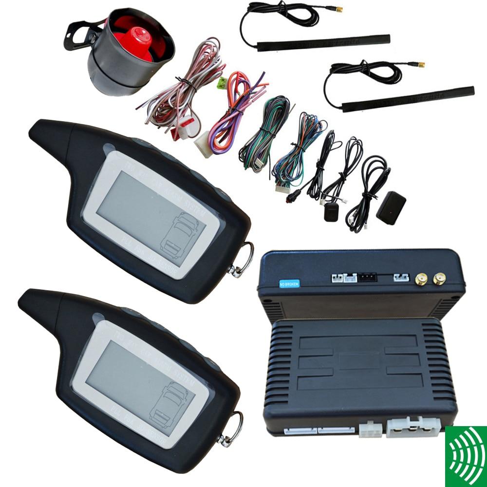 FM pke car alarm system two way car