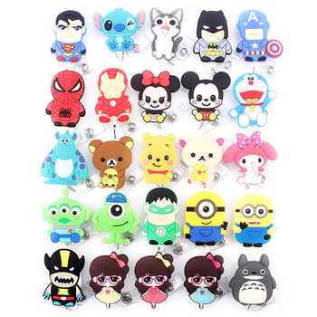 25 pcs New Colorful Animal Cartoon Retractable Pull Badge Reel ID Name Tag Card Nurse Badge Holder 2019 lovely Kids Reels - Category 🛒 Education & Office Supplies