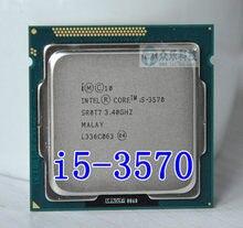 Процессор Intel I5 3570 i5 3570 четырехъядерный 3,4 ГГц L3 = 6 Мб 77 Вт Разъем LGA 1155 процессор для настольного компьютера Бесплатная доставка рабочий