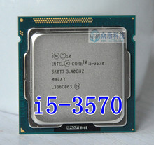 Processeur Intel I5 3570 i5 3570, Quad Core 3.4Ghz, L3 = 6M, prise 77W, prise LGA 1155, CPU de bureau, livraison gratuite, fonctionne
