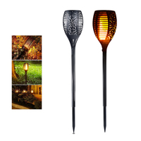 Solar LED Flame Lamp Waterproof Lawn Path 96 LEDs Romantic Flicker Effect Torch Lights Outdoor LED Fire Light Garden Decoration
