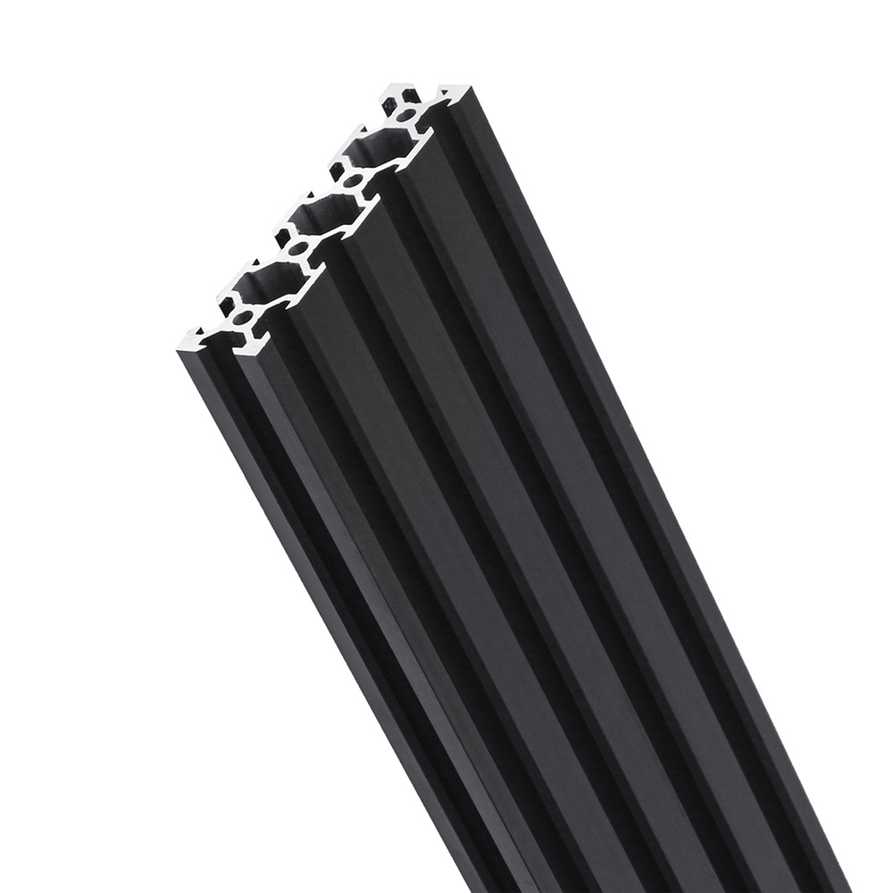 200-1000mm Black 2080 V-Slot Aluminum Profile Extrusion Frame for CNC Woodworking DIY Laser Engraving Machine 3D Printer zonestar newest full metal aluminum frame big size 300mm x 300mm auto level laser engraving run out decect 3d printer diy kit