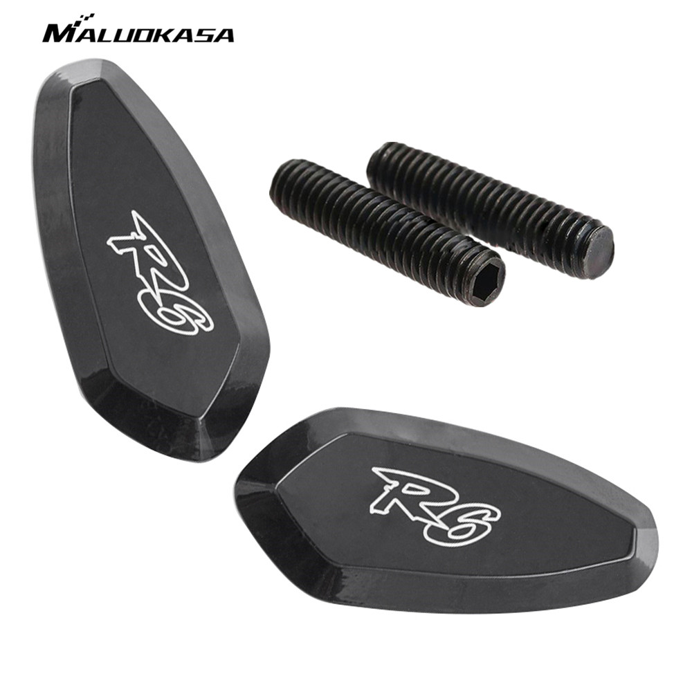 Motorcycle Mirror Block Off Base Plates Black for Yamaha YZF R6 2006 2005 2004