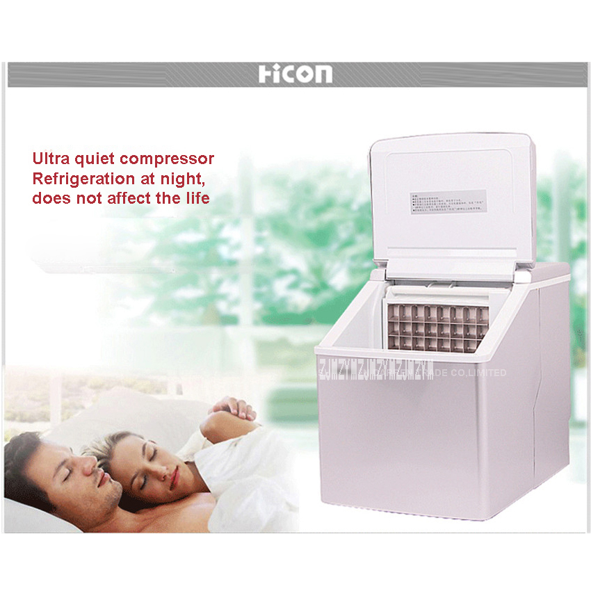 1pc HZB-13F 13kgs/24H Portable Automatic Ice Maker, Household Ice Cube Make Machine For Home Use, Bar, Coffee Shop