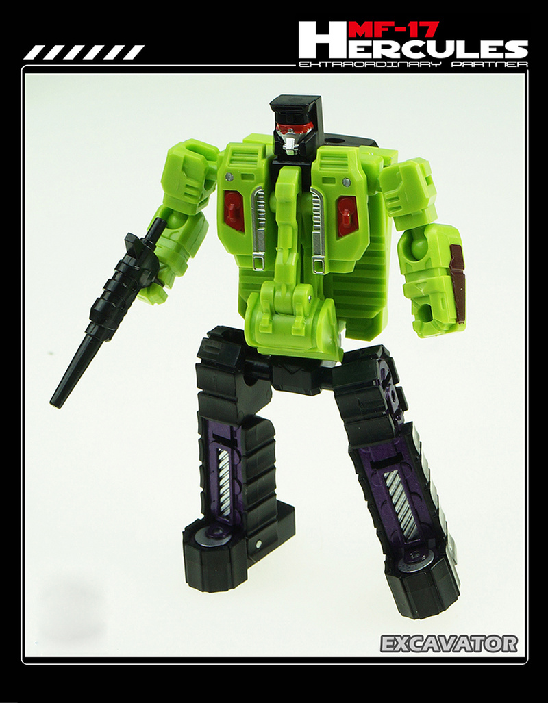 G1 Transformation MF-17 Hercules - Green Mini Devastator DX9 MFT HULKIE Action Figure Collection Robot Toys Gifts weijiang transformation 6in1 g1 devastator transformation action figures toy ko dx9 model robot car truck kid boy toys gifts