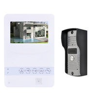 ホームカラービデオドア電話ドアベルビデオインターホンモニターキットirナイトビジョンカメラドアベル用アパー